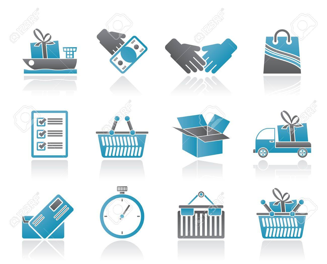 Shipping and logistic icons - vector icon set Stock Vector - 9905181