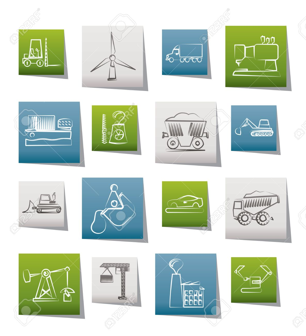 Business and industry icons - vector icon set Stock Vector - 10446205