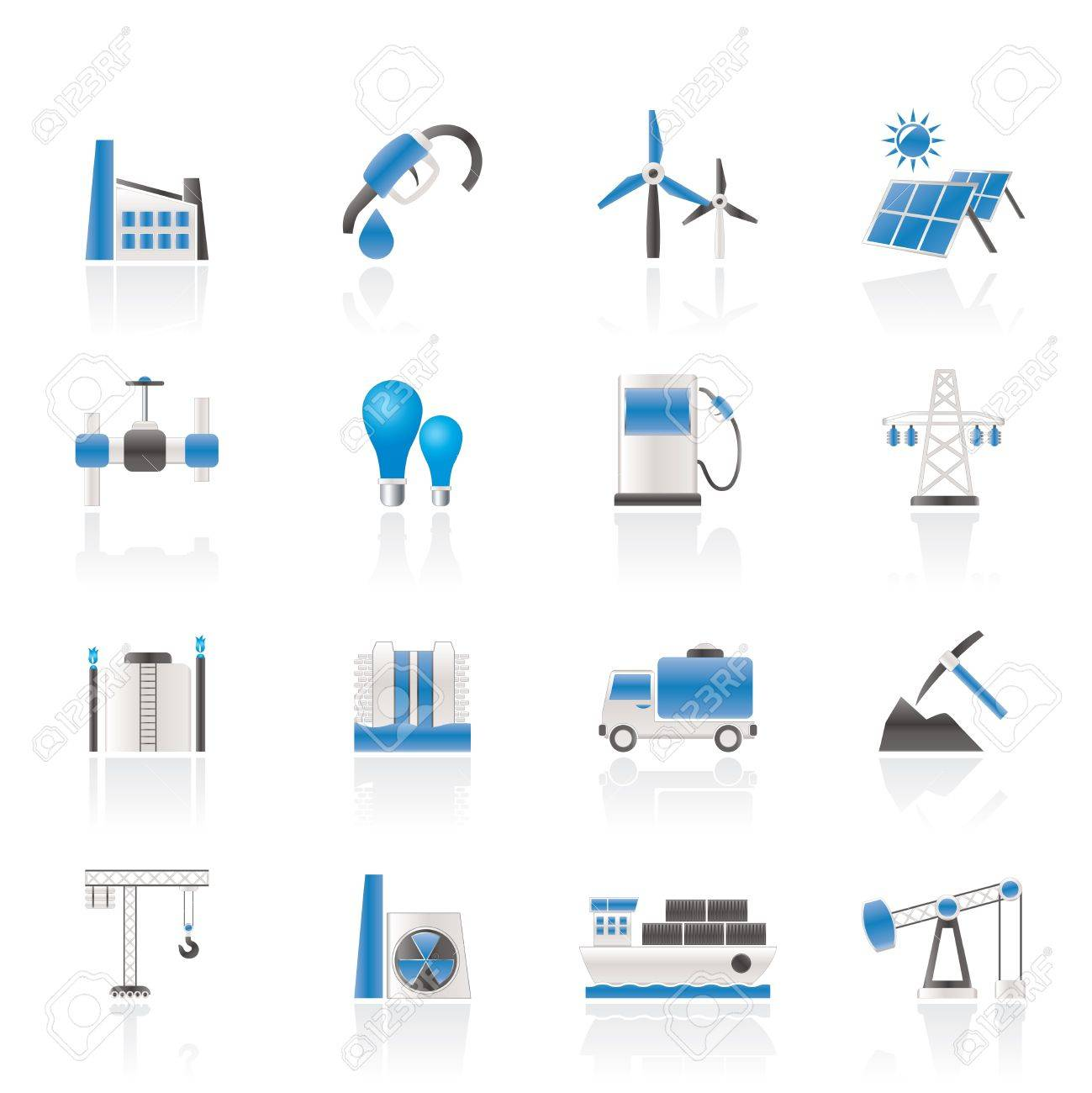 Business and industry icons Stock Vector - 11107406
