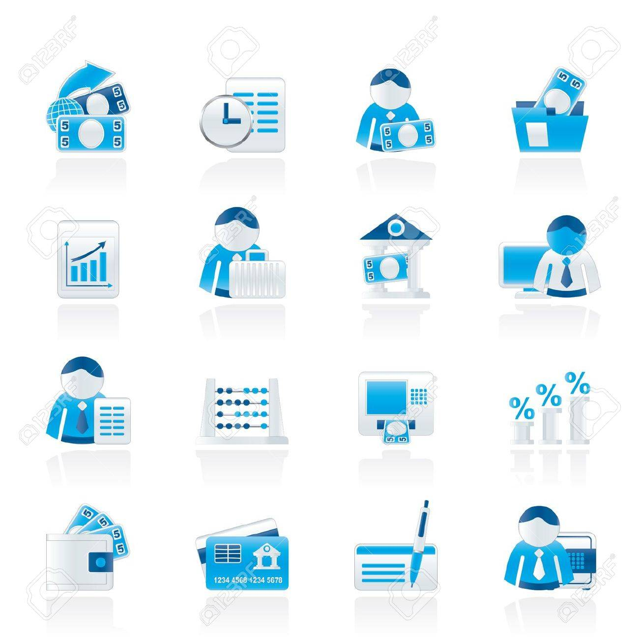 Bank and Finance Icons - Vector Icon Set Stock Vector - 11275111