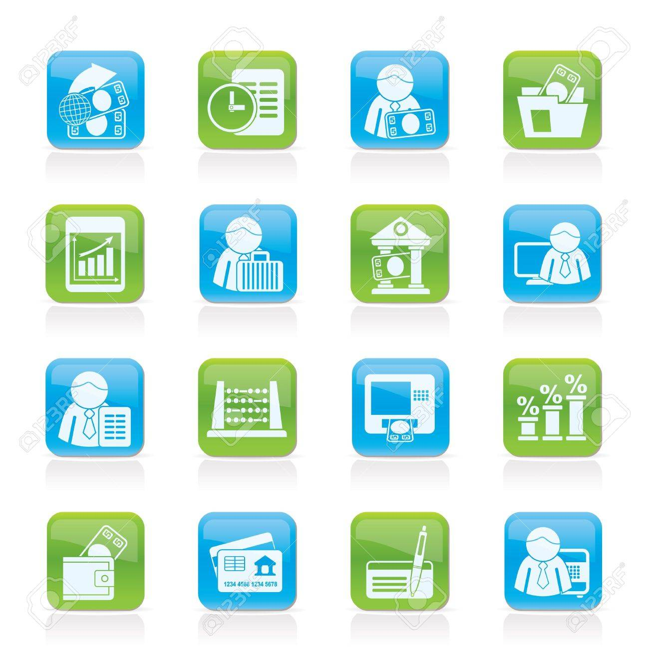 Bank and Finance Icons - Vector Icon Set Stock Vector - 11381848