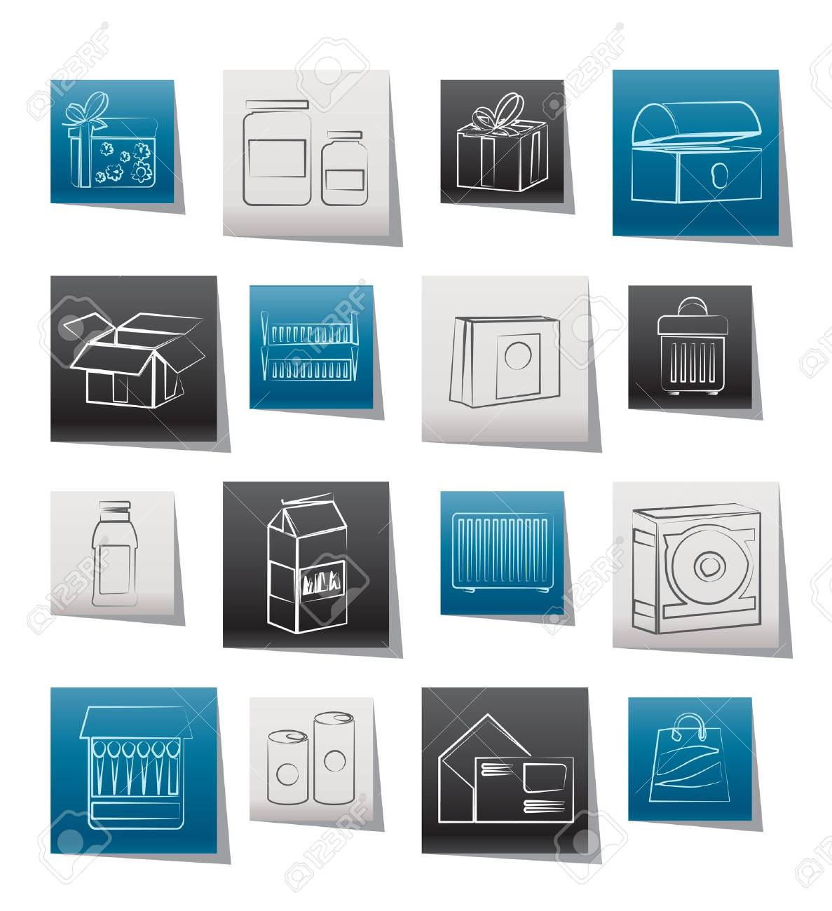 different kind of package icons - vector icon set Stock Vector - 11660110