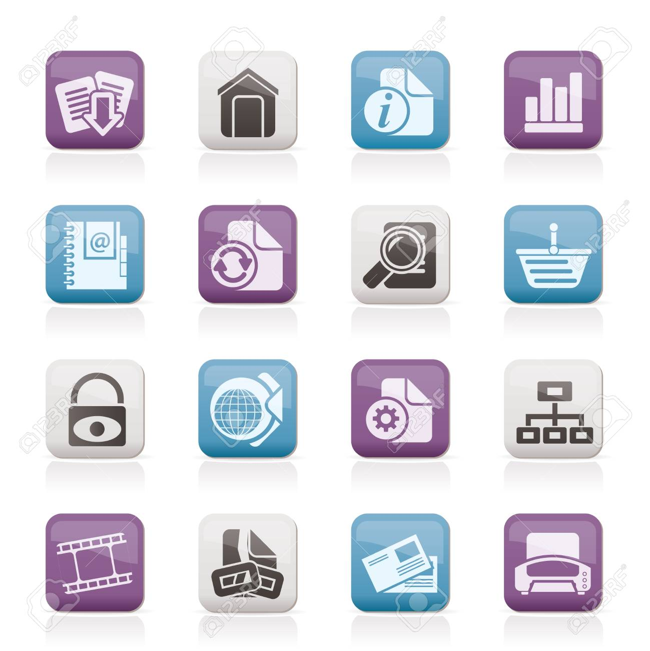 Web Site and Internet icons - vector icon set Stock Vector - 11659227