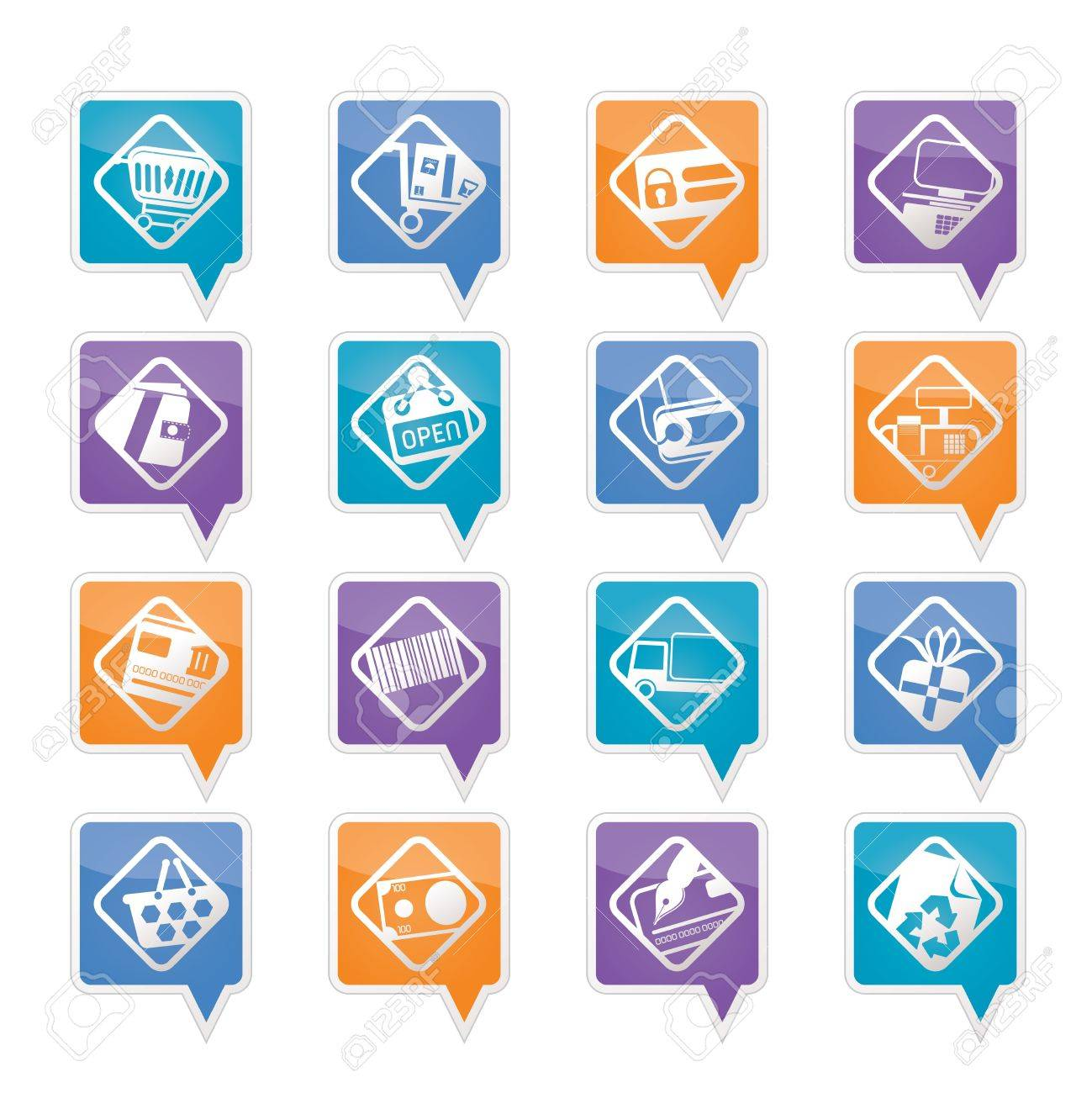 Online Shop, e-commerce and web site icons - Vector Icon Set Stock Vector - 11780359