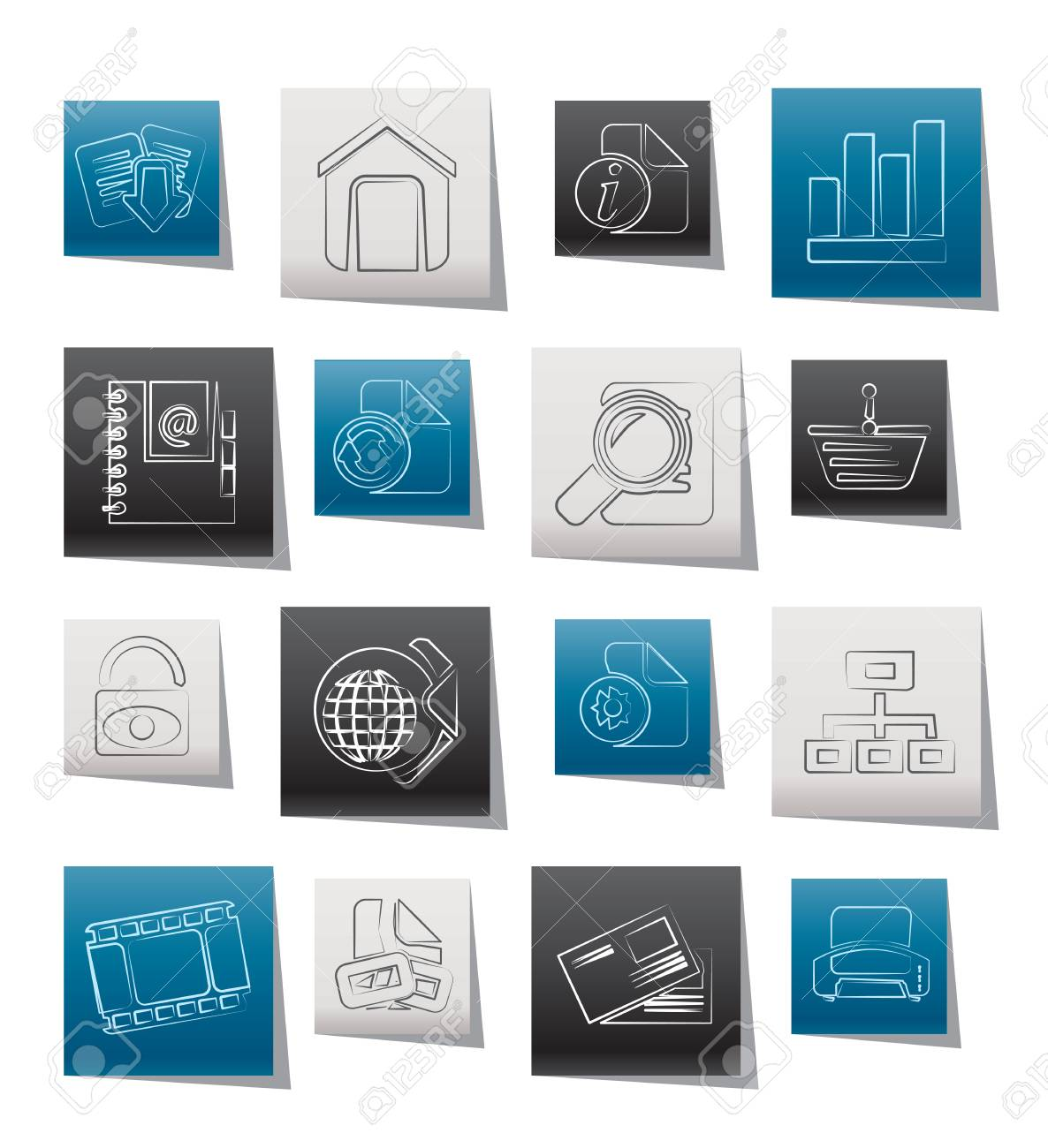 Web Site and Internet icons Stock Vector - 12006984