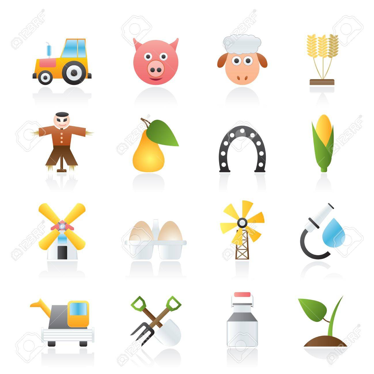Agriculture and farming icons - icon set Stock Vector - 12200586