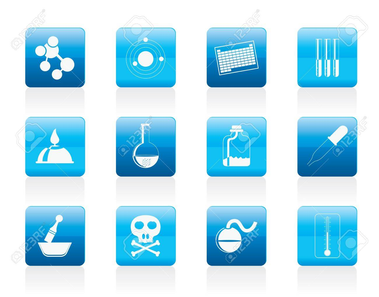 Chemistry industry icons - icon set Stock Vector - 12200649