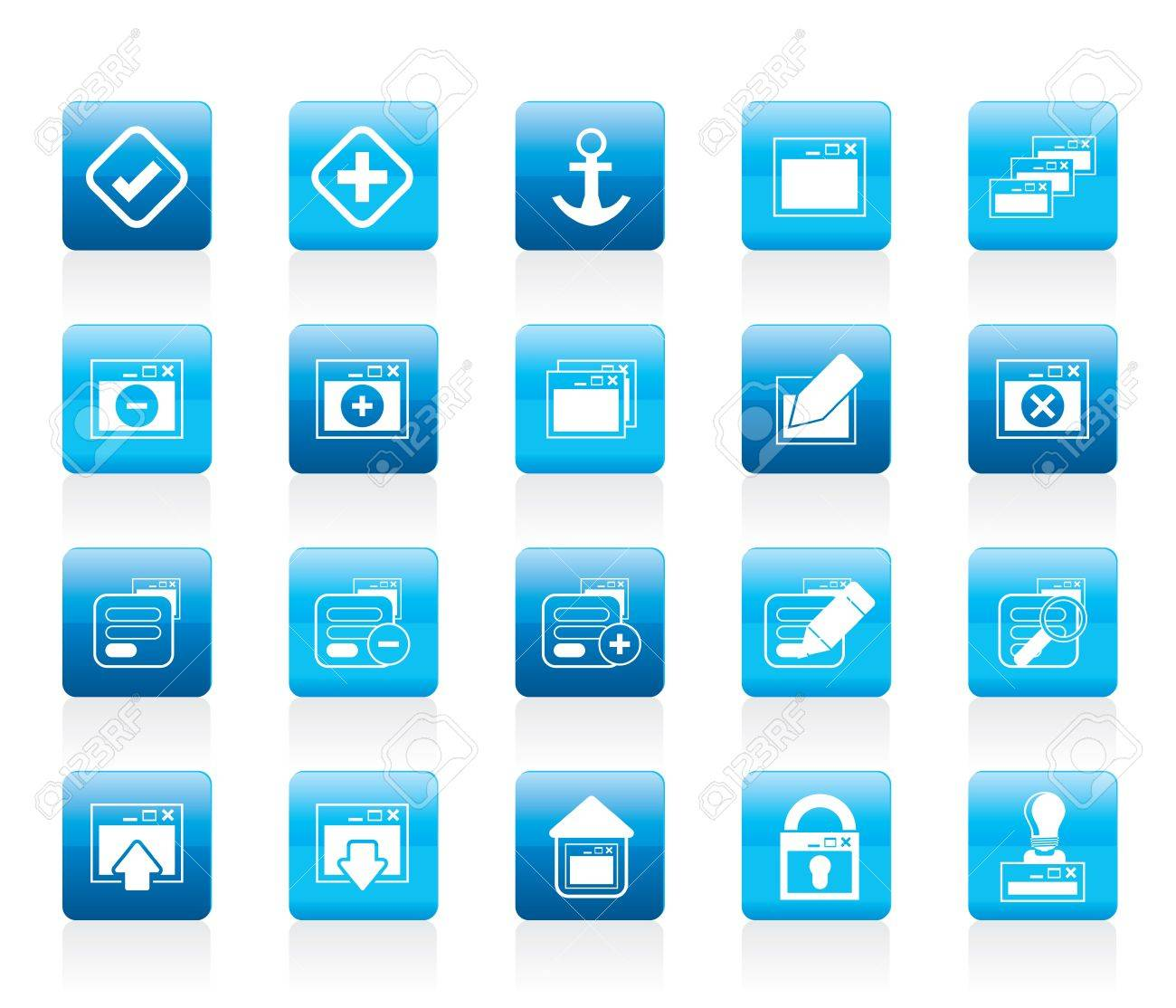 Application, Programming, Server and computer icons Icon Set 1 Stock Vector - 12200660