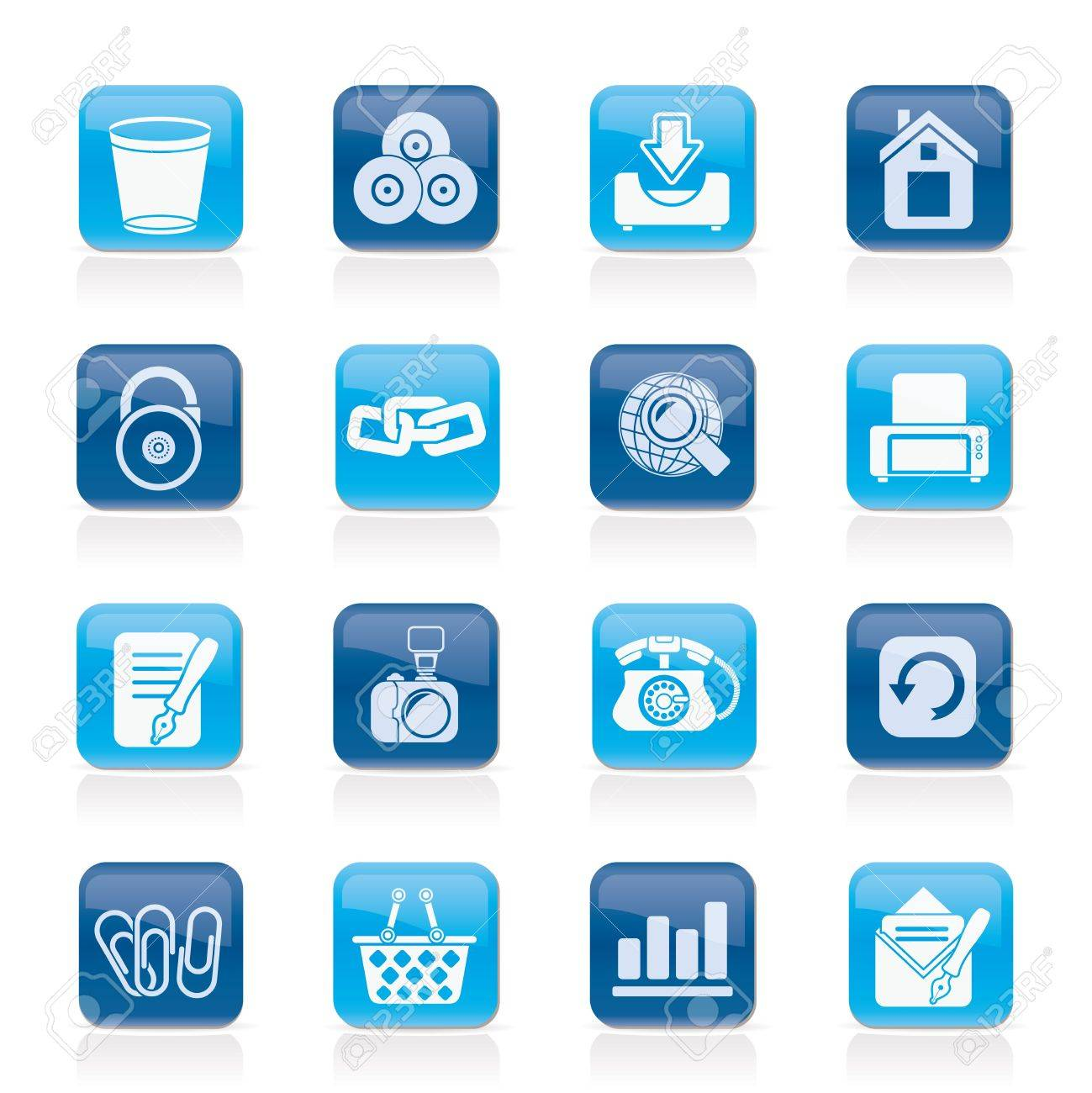Website and internet icons - icon set Stock Vector - 12201620