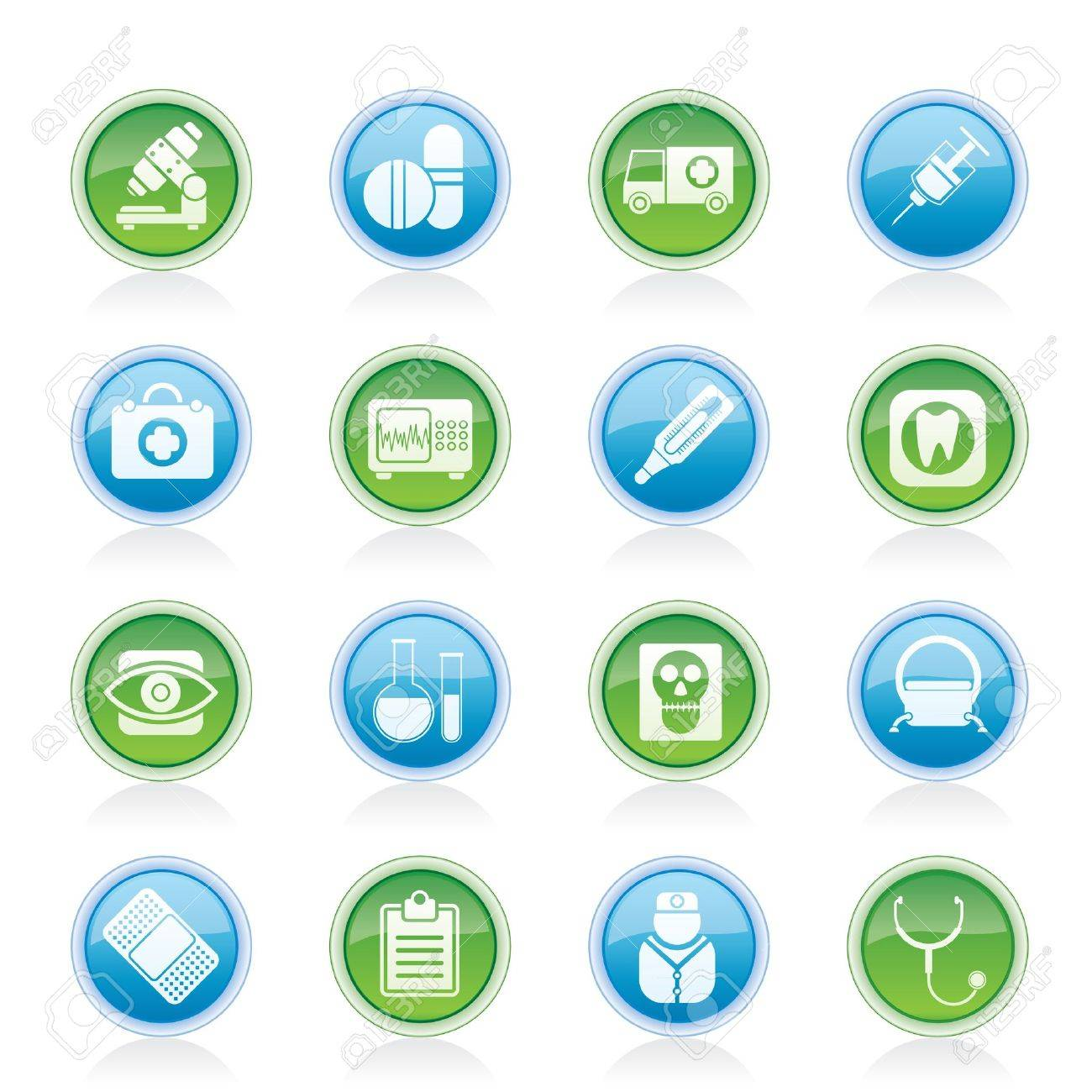 medical, hospital and health care icons - vector icon set - 12481430