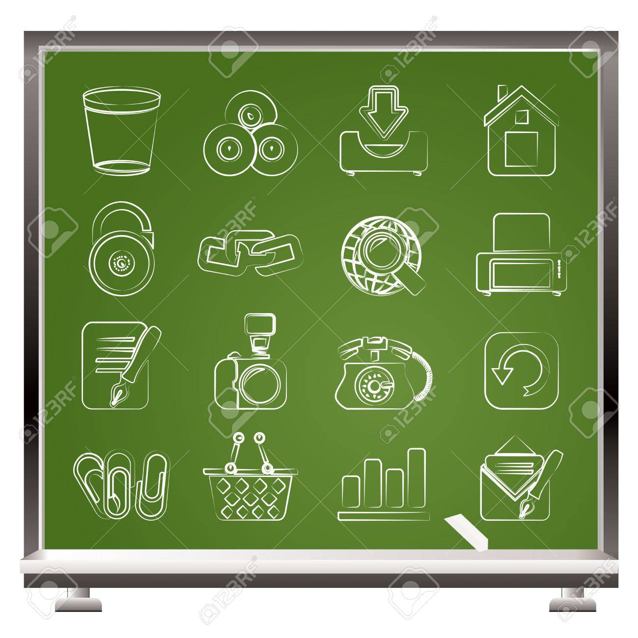 Website and internet icons - vector icon set Stock Vector - 12481498