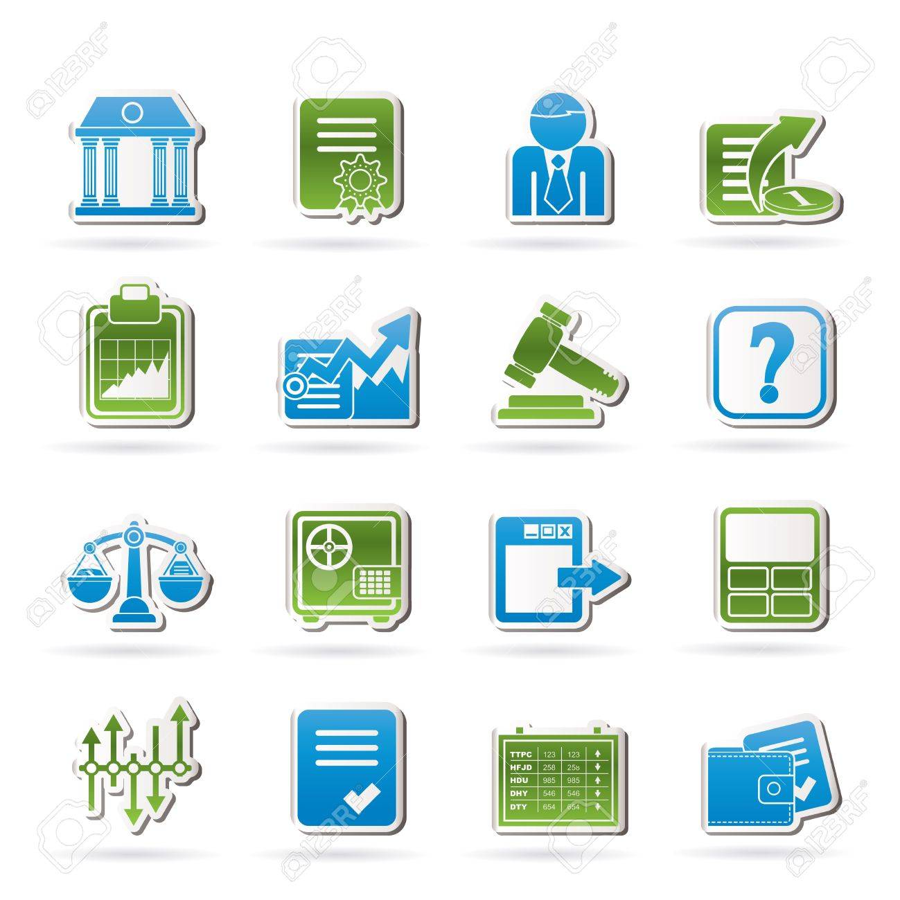 Stock exchange and finance icons - vector icon set Stock Vector - 12853148