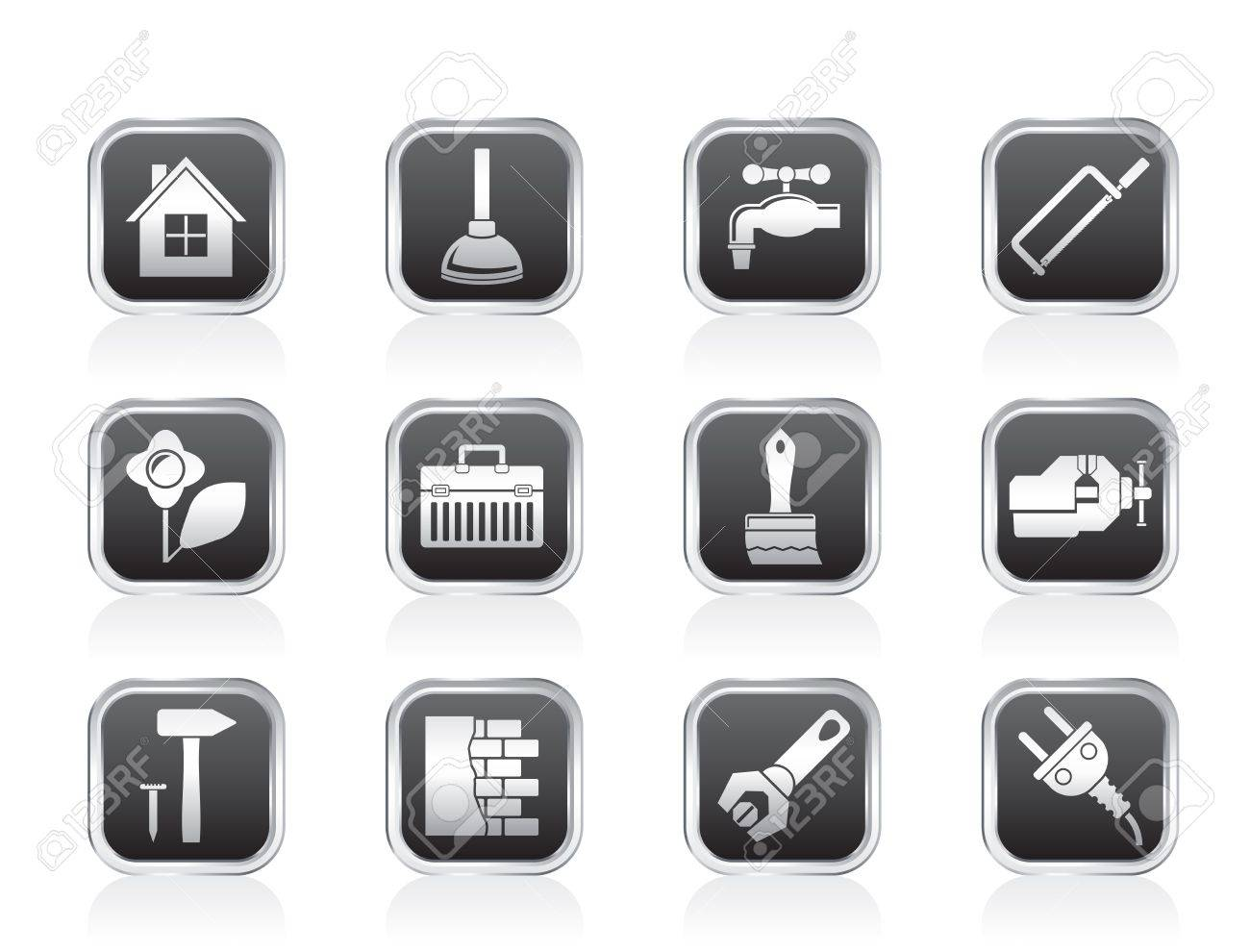 construction and do it yourself icons - vector icon set - 13183338