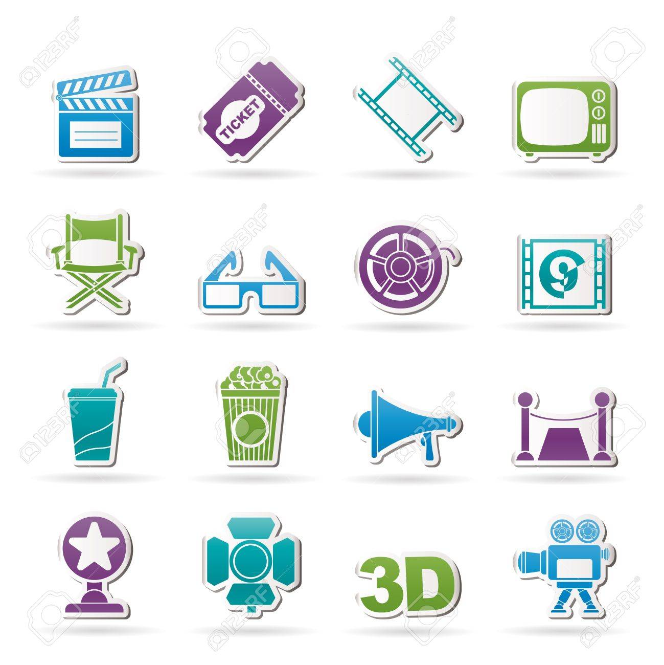 Cinema and Movie icons- vector icon set Stock Vector - 13183425