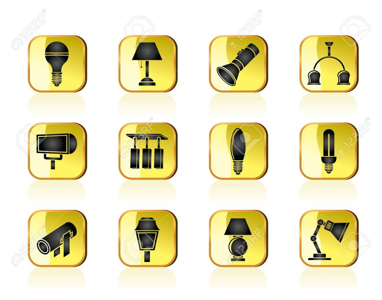 different kind of lighting equipment Stock Vector - 13295630