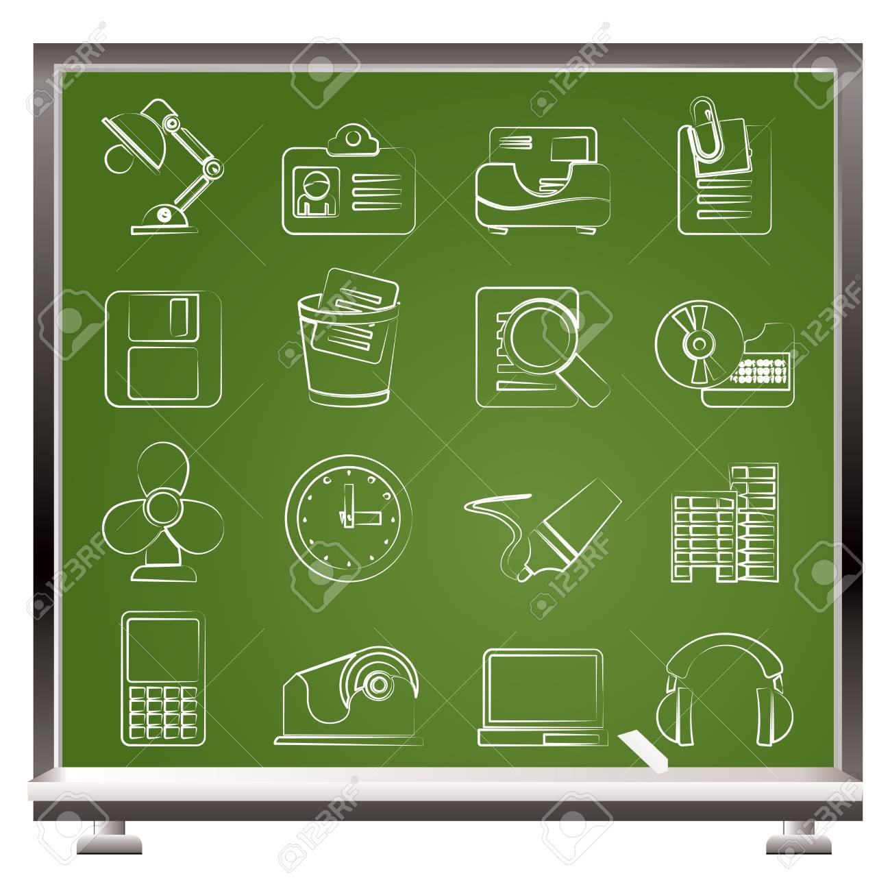 Office and business icons icon set Stock Vector - 13324077
