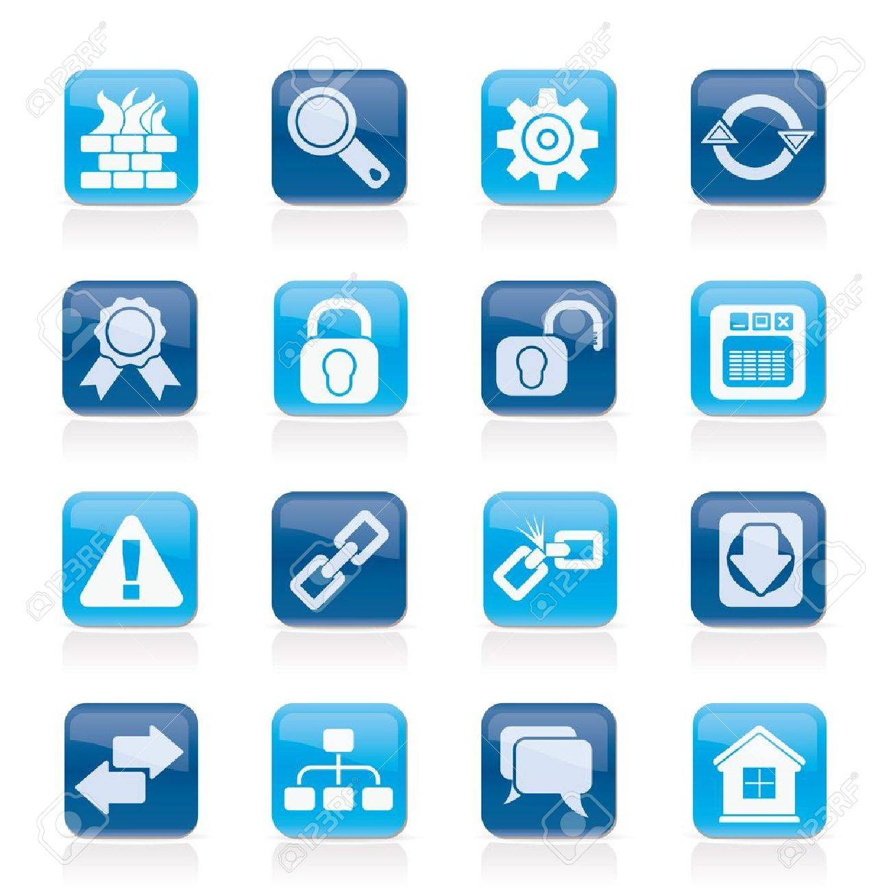 Internet and web site icons icon set Stock Vector - 13323954