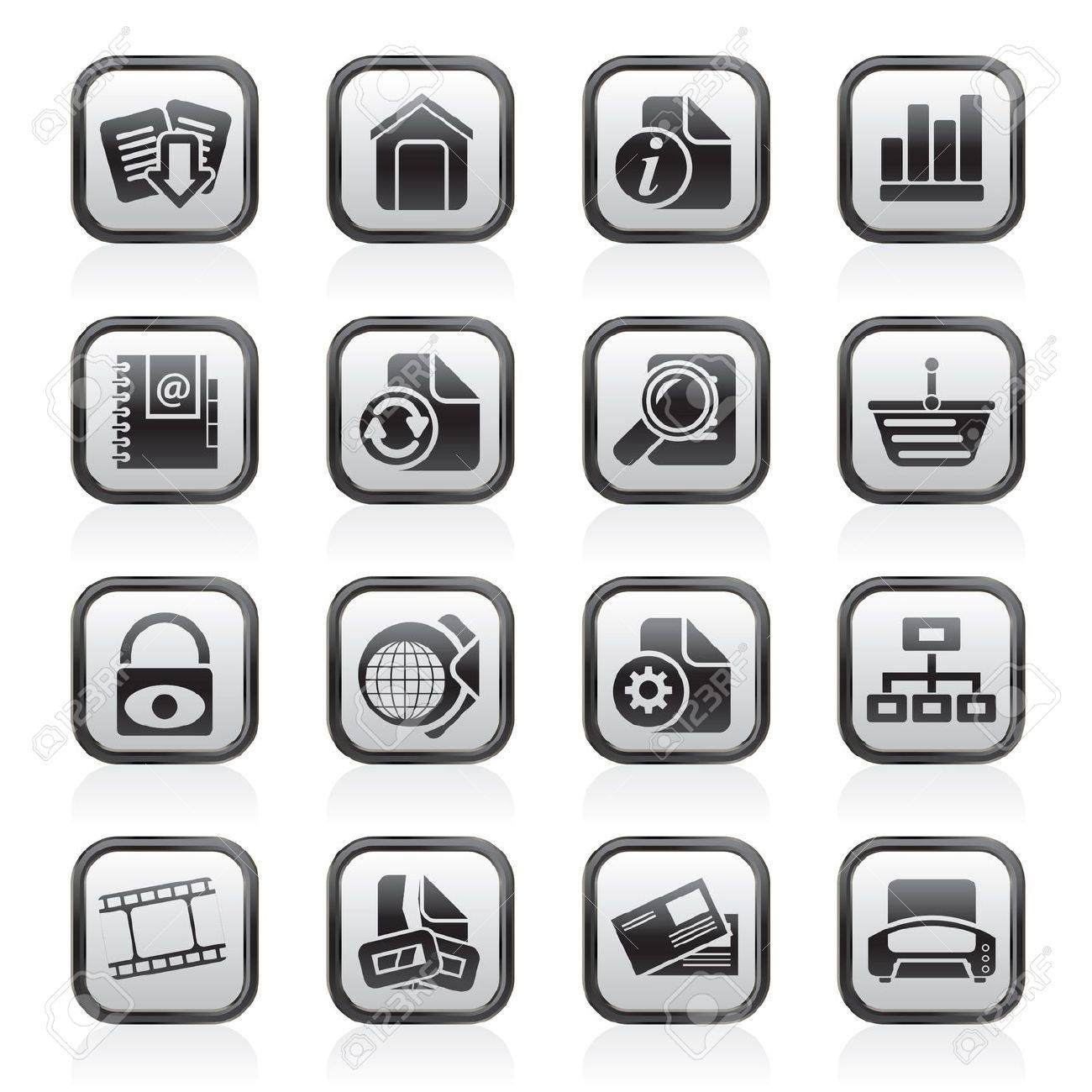Web Site and Internet icons Stock Vector - 13809433
