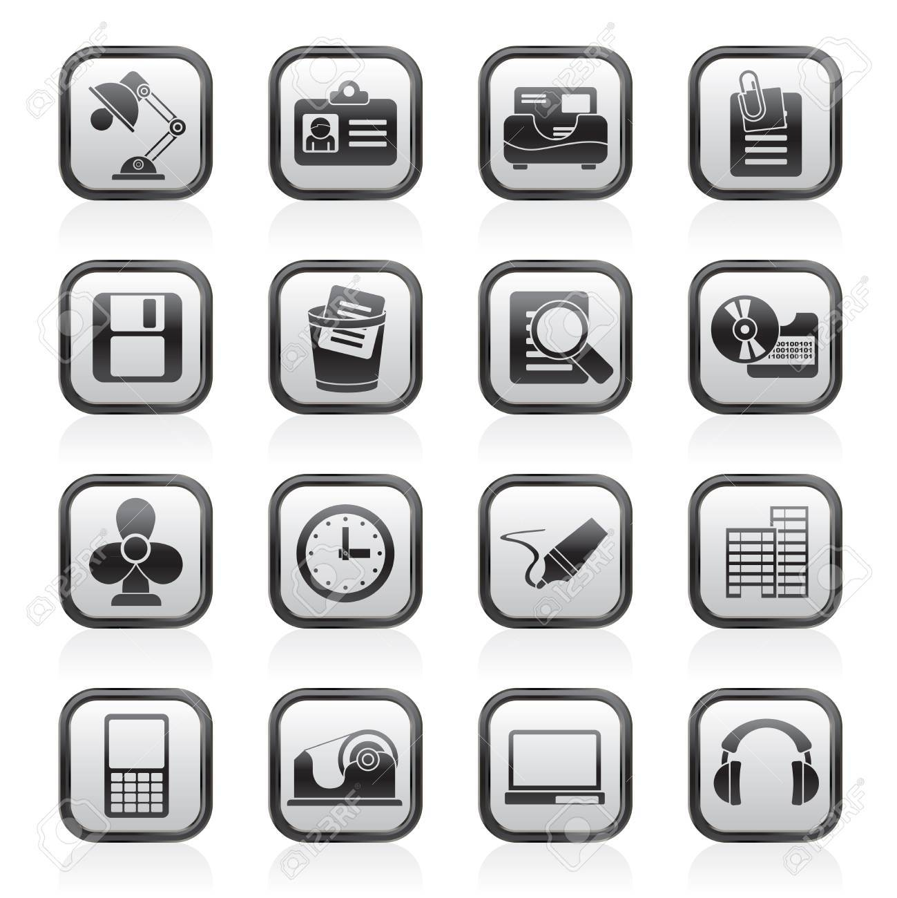 Office and business icons - vector icon set Stock Vector - 13910989