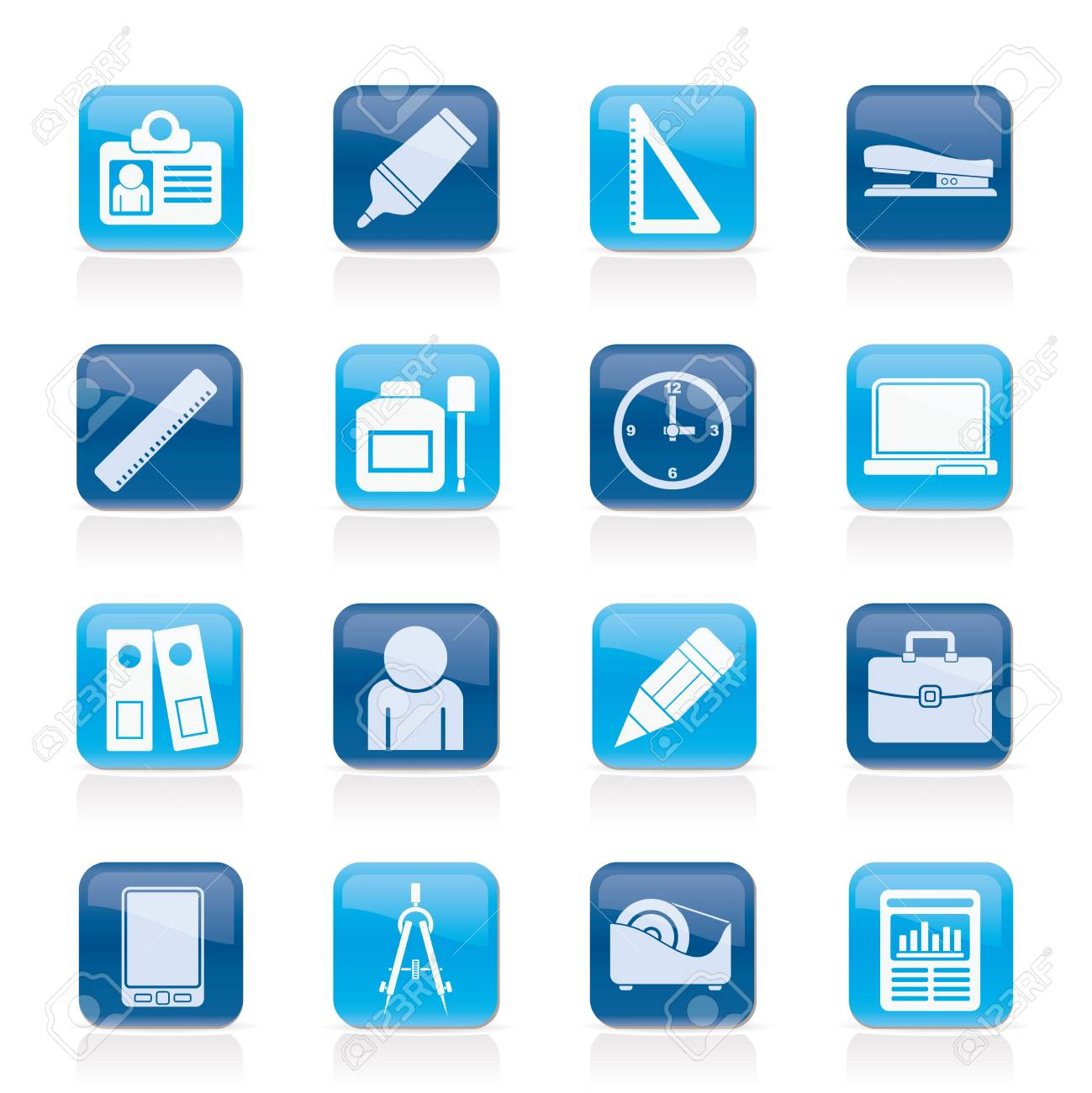 Business and office objects icons Stock Vector - 14120939