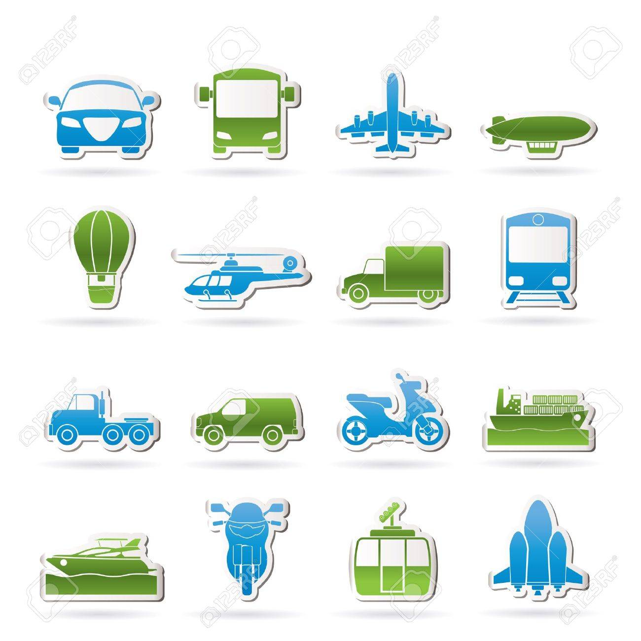 Transportation and travel icons Stock Vector - 14396983