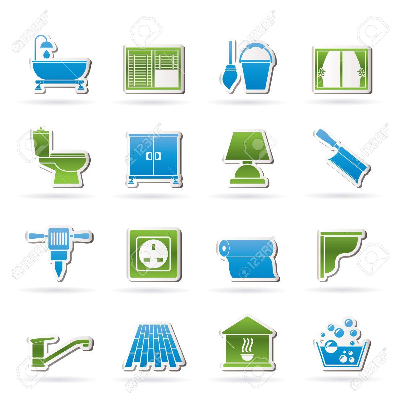 Construction and building equipment Icons - vector icon set 2 Stock Vector - 14771334