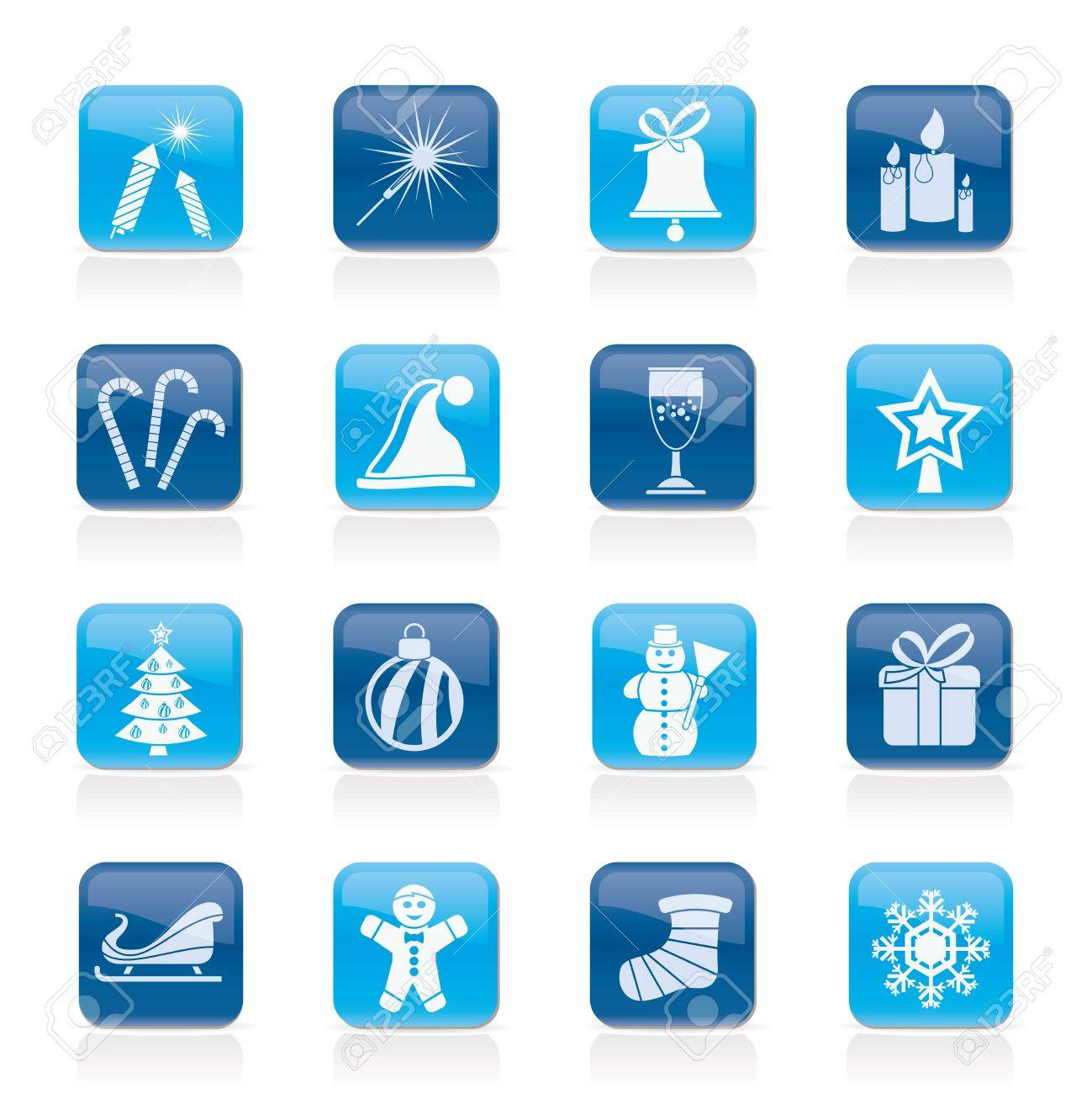 Christmas and new year icons - vector icon set - 15952541