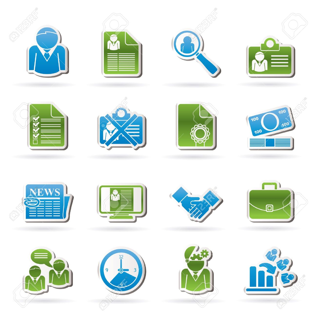 Employment and jobs icons - vector icon set - 16221473