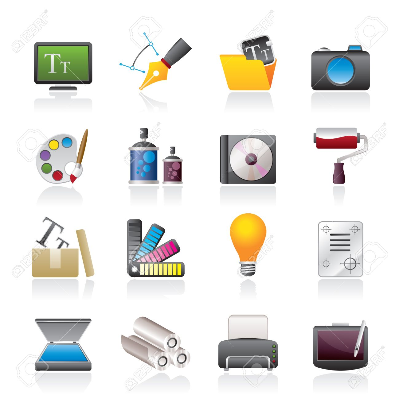 Graphic and website design icons - icon set - 16452245