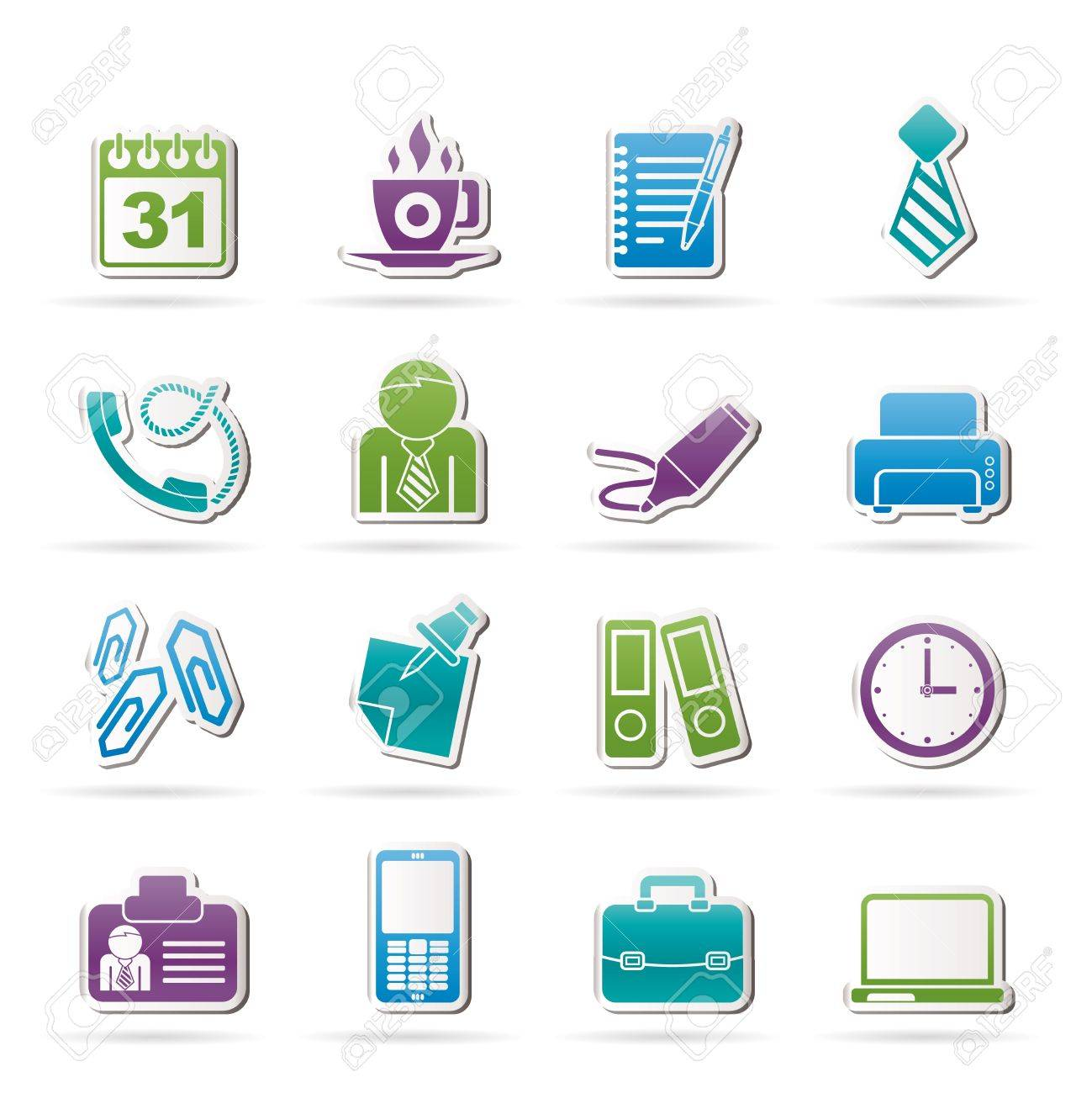 Business and office icons - vector icon set - 16587015