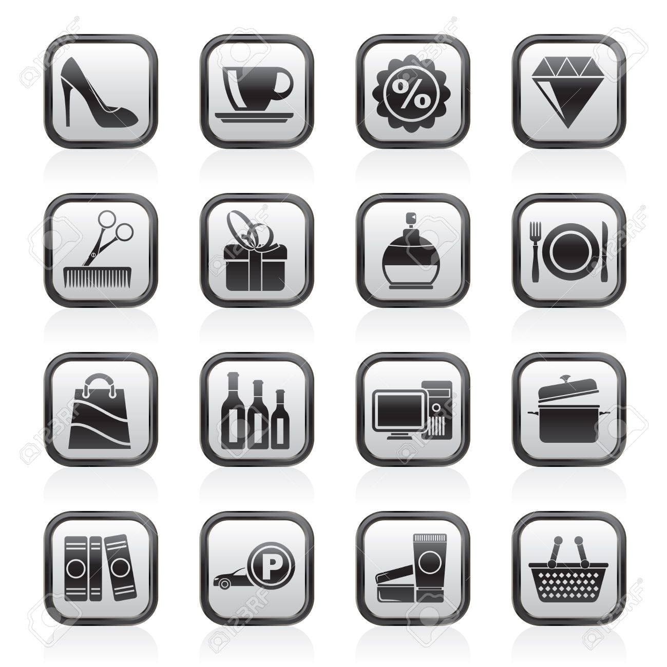 Shopping and mall icons - icon set - 16646549