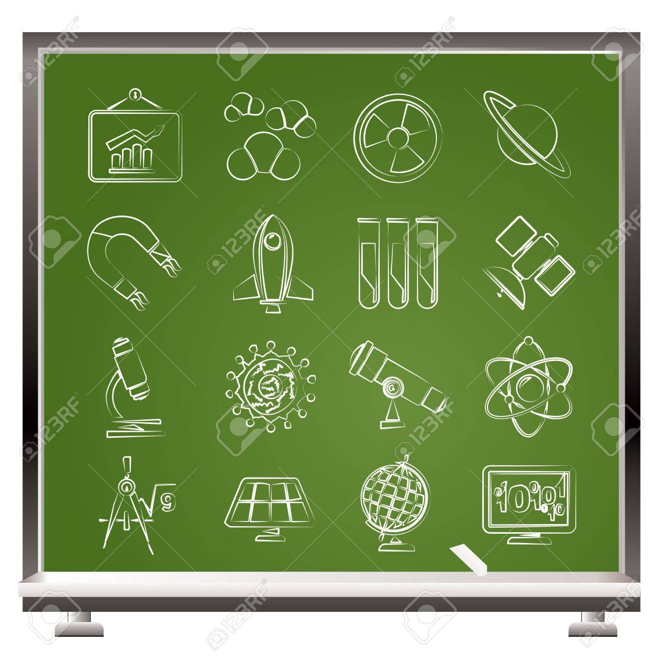 science, research and education Icons Stock Vector - 17359925
