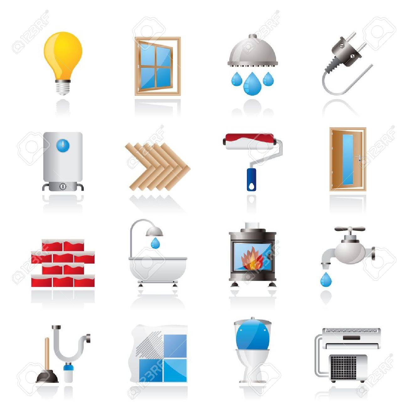 Construction and home renovation icons - icon set - 17590442