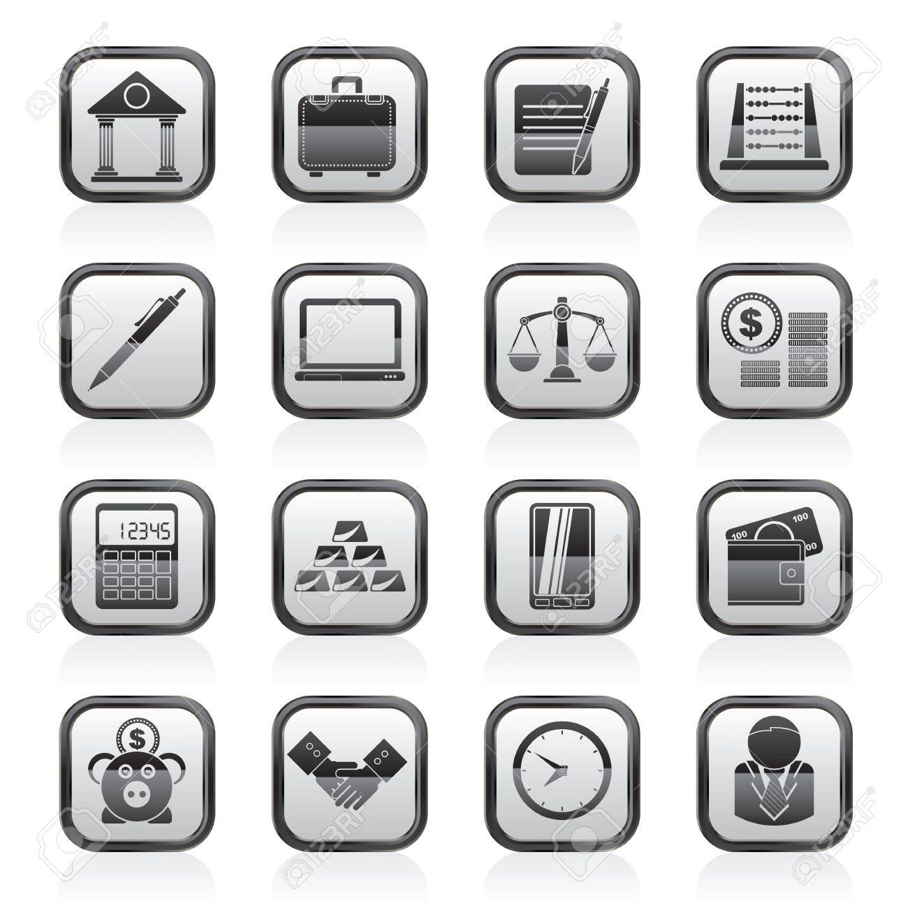 Business and office icons - vector icon set Stock Vector - 18377361