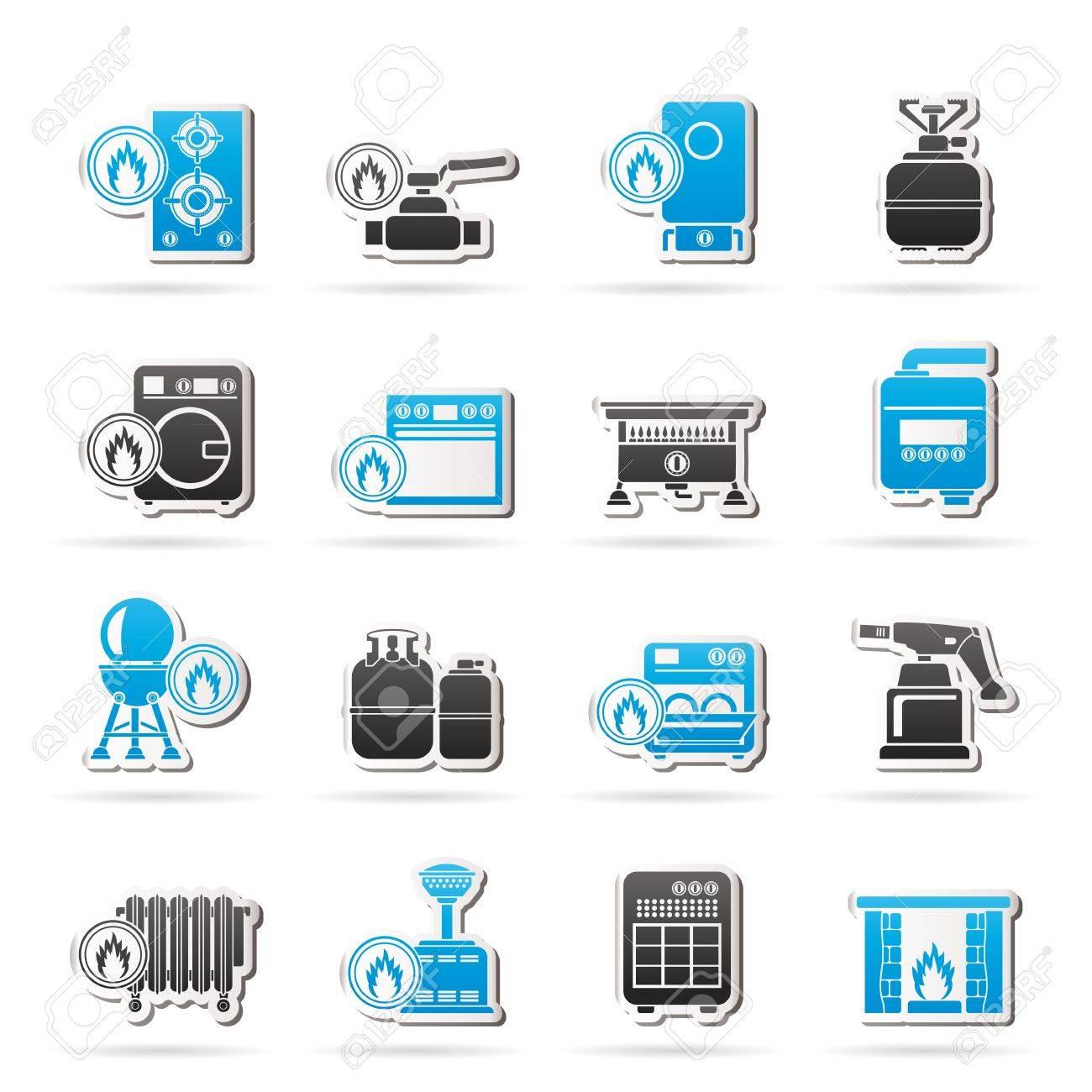 Household Gas Appliances icons - icon set - 18535000