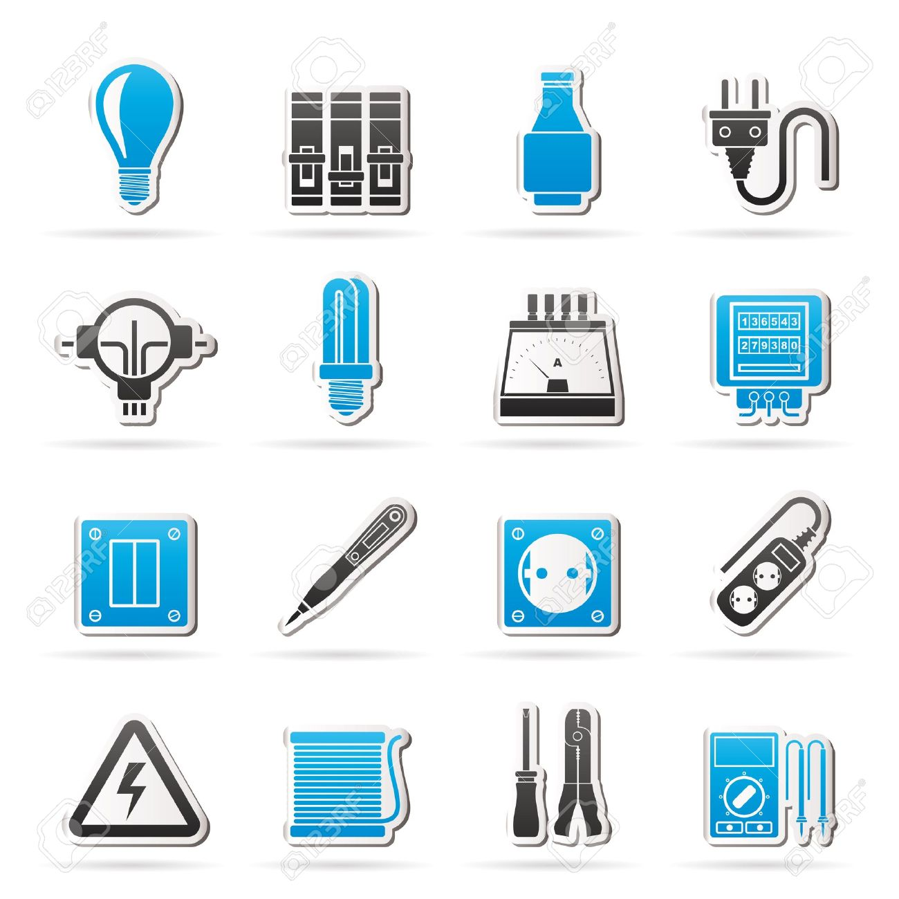 Electrical devices and equipment icons - icon set - 19380220