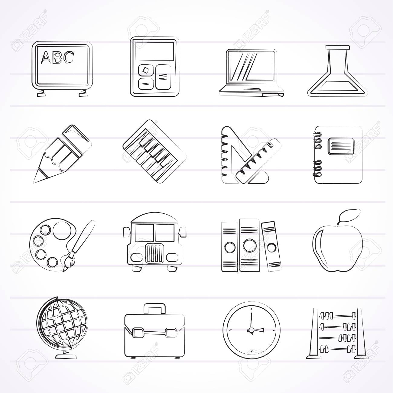School and education icons - vector icon set Stock Vector - 24914642