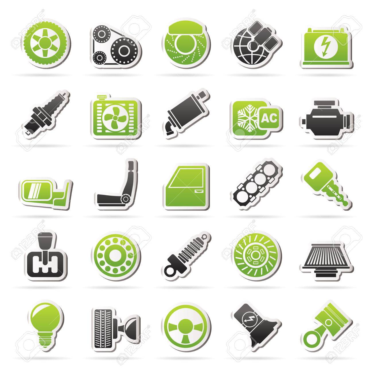 Car parts and services icons - vector icon set - 32750036