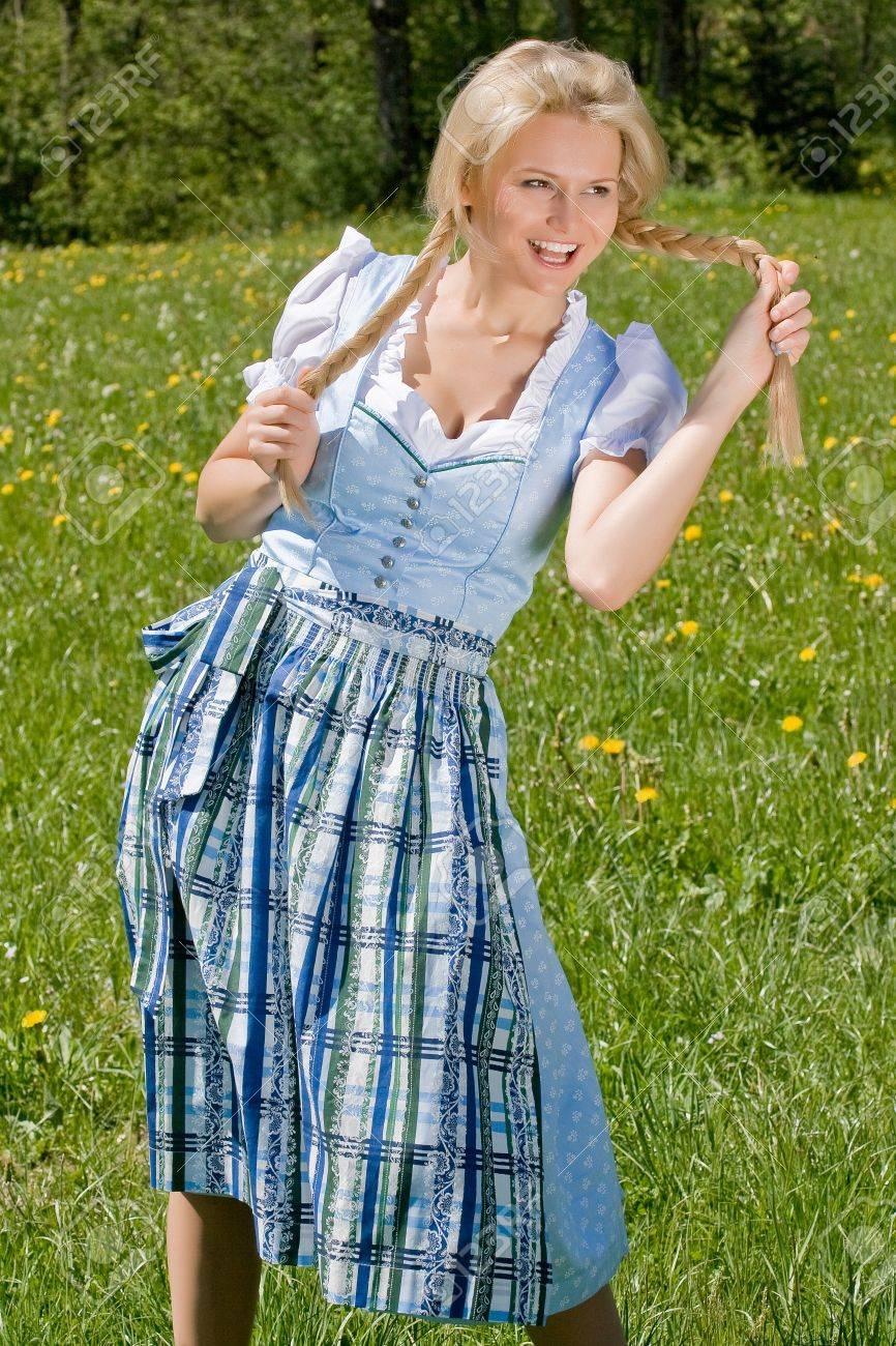Happy Bavarian girl costume Stock Photo - 10420732