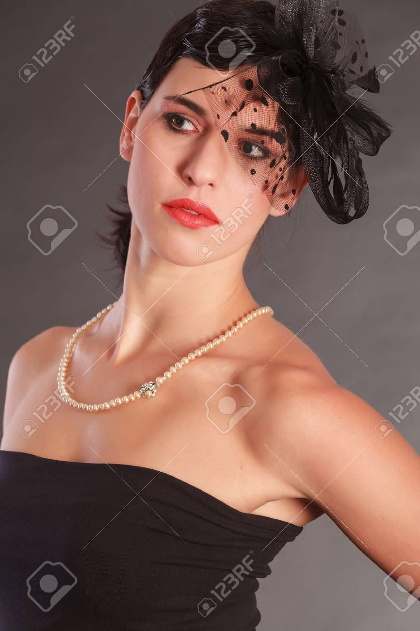 Beautiful woman with hair bow Stock Photo - 18208883