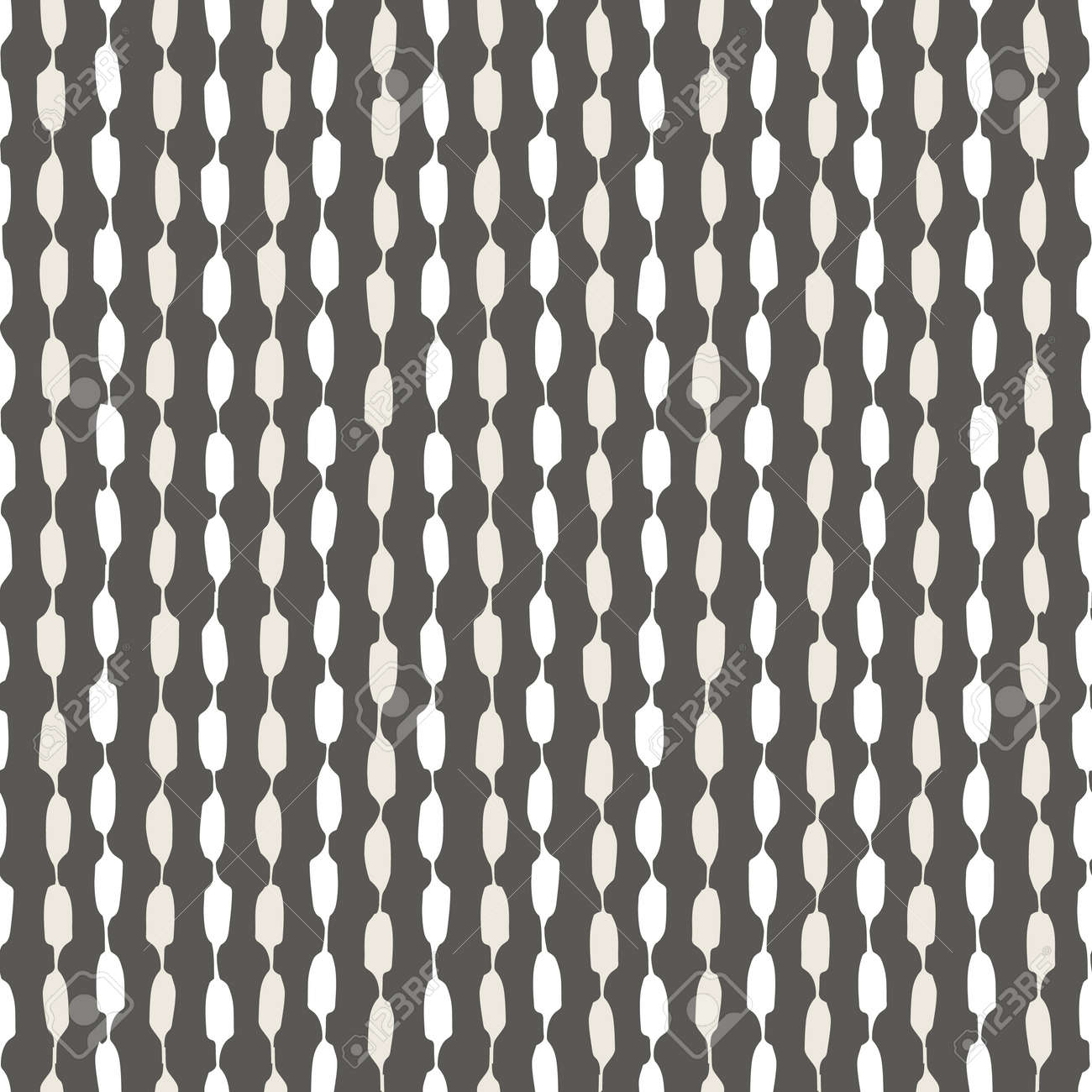 Seamless geometric pattern with hand painted stripes - 164334469