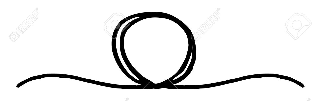 Hand painted banner with circle hand painted with ink brush, divider shape. Isolated on white background. Vector illustration - 165183281