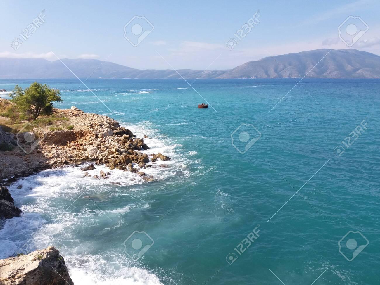 Summer Albania beach sea view - 120448037
