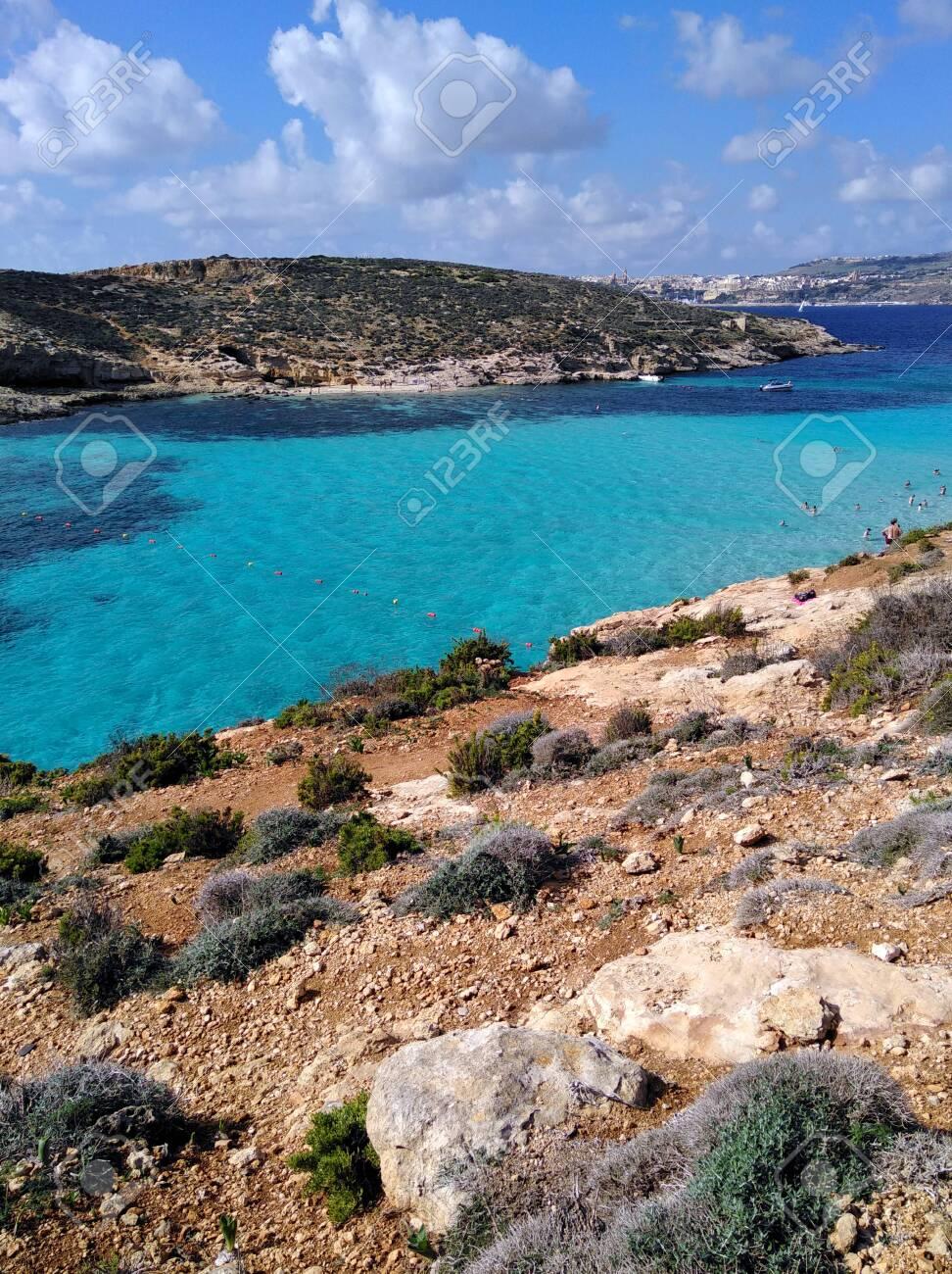 Comino Island Blue Lagoon Malta Blue Turquoise Sea Water Beach