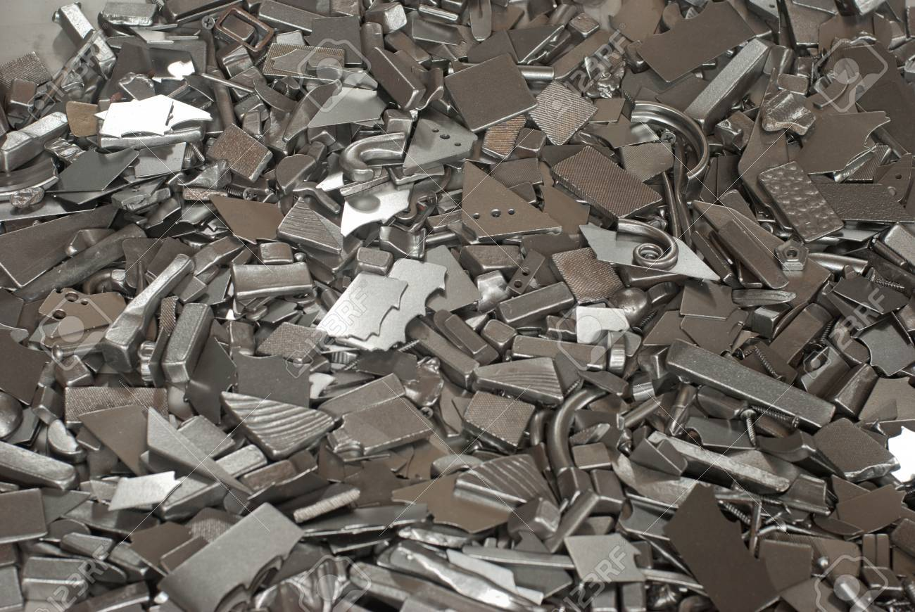 Pieces of different metallic parts for recycling Stock Photo - 16862996