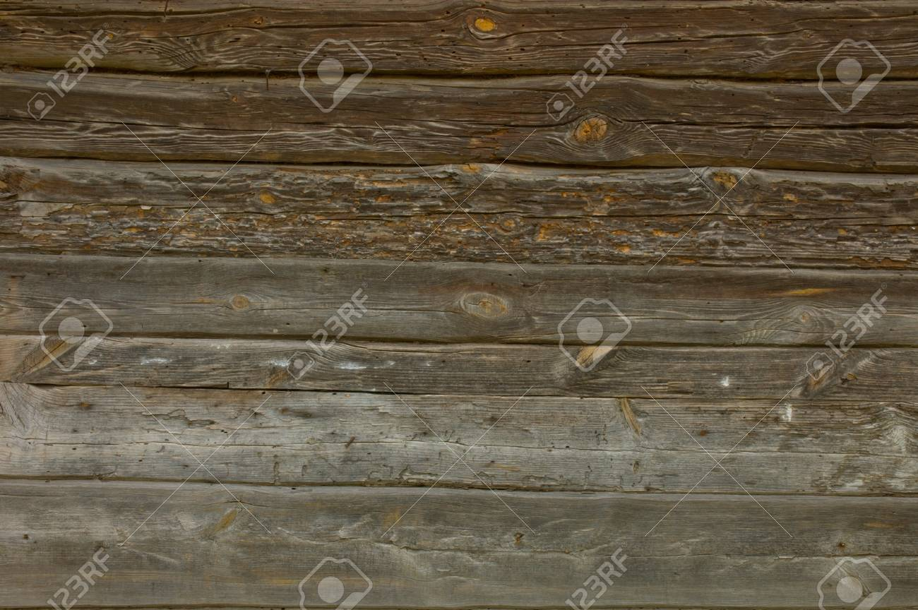 The wooden logs with traces of destruction, the 19th century Stock Photo - 13528791