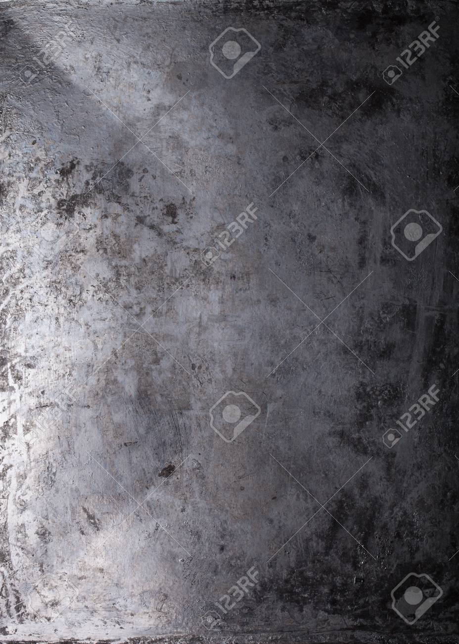 Black metal background. The surface of the pan to the oven. - 53510263