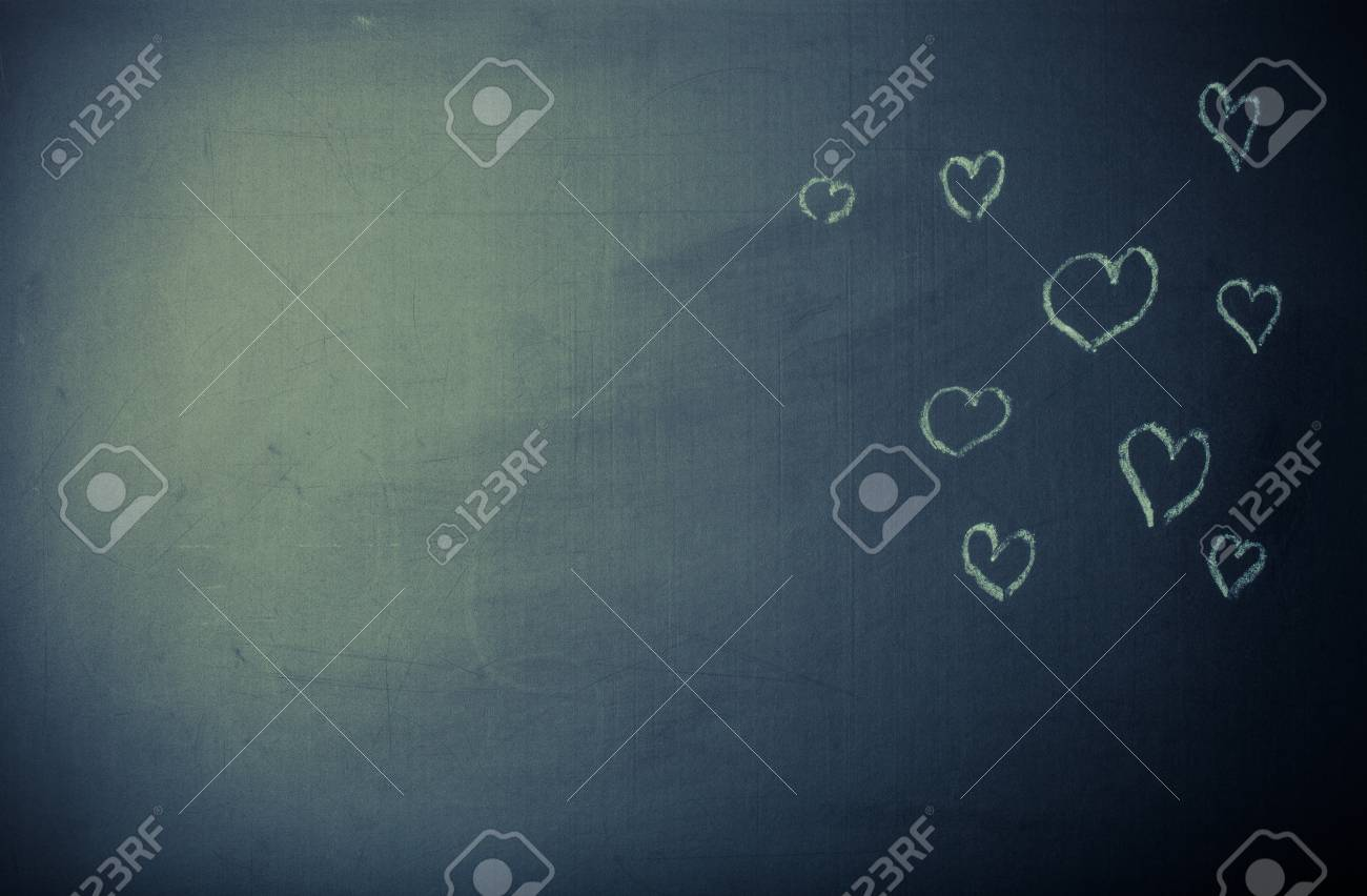 romantic theme on a chalkboard toned stock photo picture and