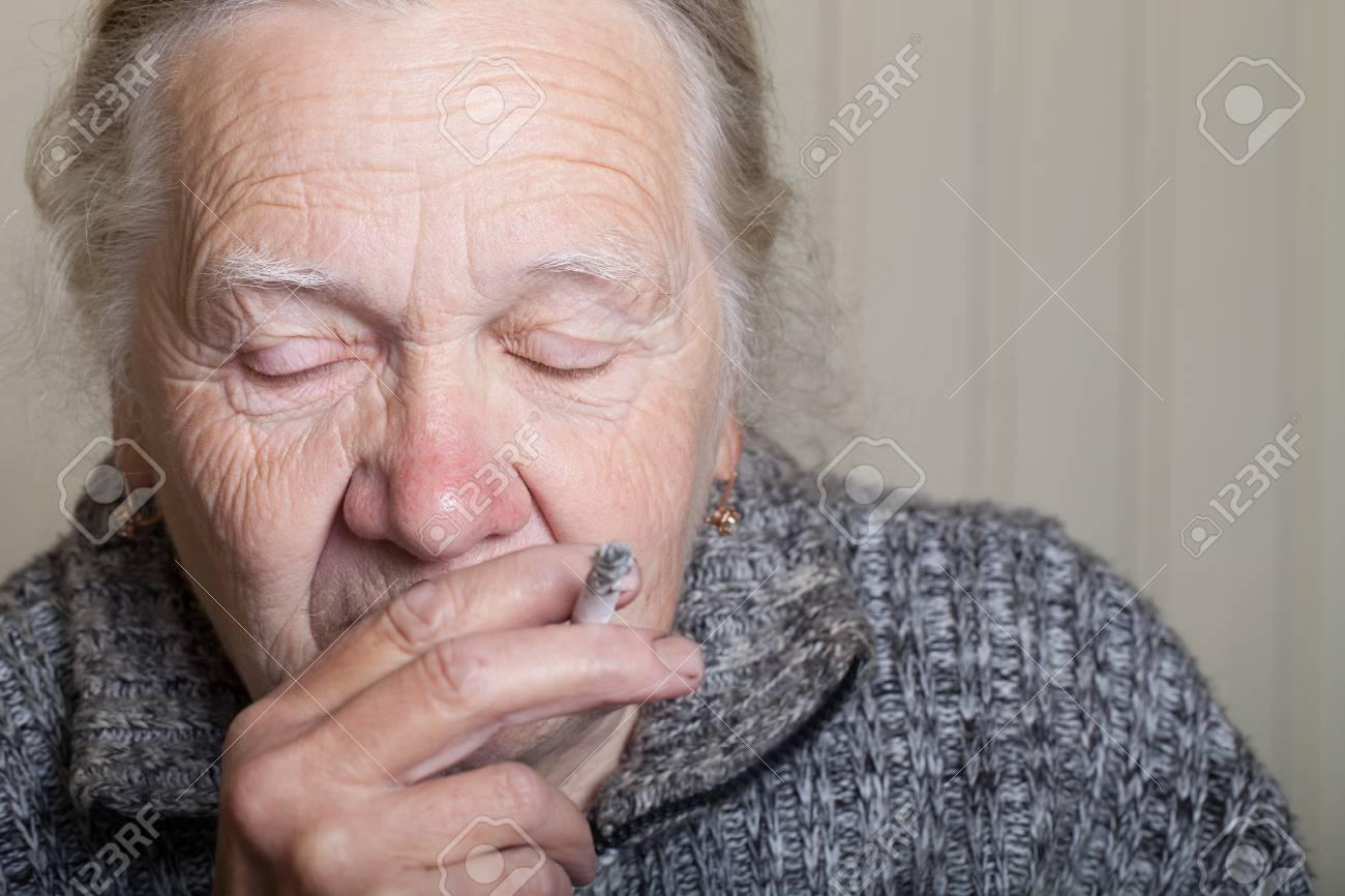 Portrait of an elderly woman. - 60343791