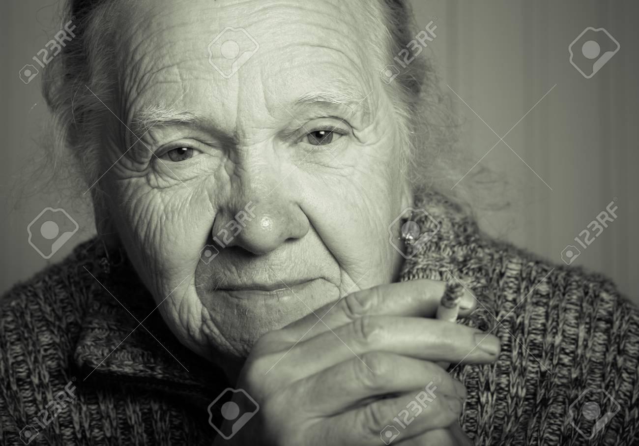 Portrait of an elderly woman. Toned. - 60341869